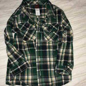Adorable green plaid flannel Tea Collection 18-24